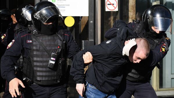 Moskova'daki gösteride çok sayıda kişi gözaltına alındı - Sputnik Türkiye