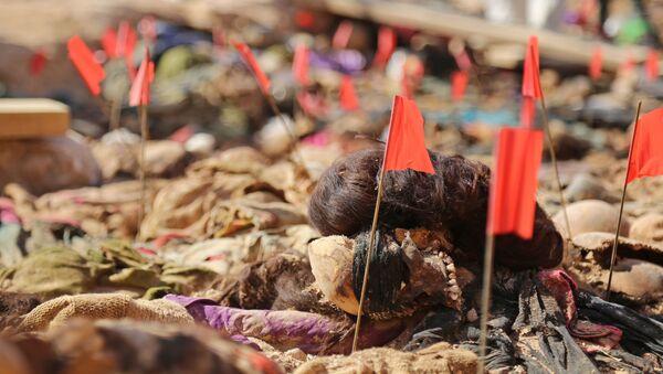 Irak'ın devrik lideri Saddam Hüseyin döneminde öldürülen Kürtlere ait toplu mezar bulundu.  - Sputnik Türkiye