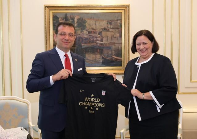 İBB Başkanı Ekrem İmamoğlu-ABD İstanbul Başkonsolosu Daria Darnell