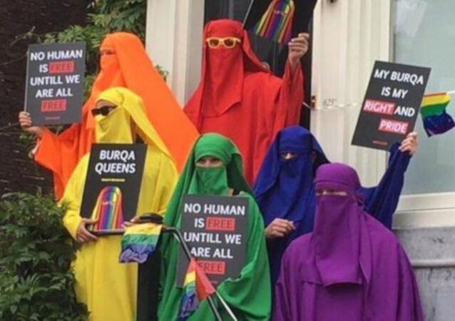 Yasağı protesto etmek için sarı burka giyen erkek politikacı Hollanda'da tartışma yarattı