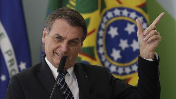 Brezilya Devlet Başkanı Jair Bolsonaro - Sputnik Türkiye