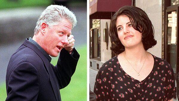 Eski ABD Başkanı Bill Clinton, Beyaz Saray stajyeri Monica Lewinsky - Sputnik Türkiye