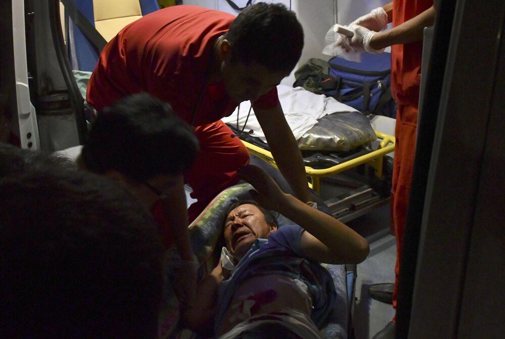 Gözaltı operasyonu sırasında yaralananlardan biri.