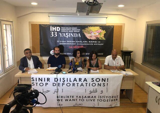 Birlikte Yaşamak İstiyoruz İnisiyatifi'nin 'Sınır Dışıları İki Haftası' raporu basın toplantısı