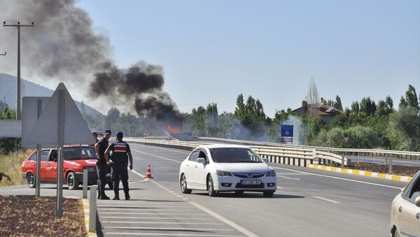 Konya'nın Akşehir ilçesinde mühimmat taşıyan kamyonda yangın çıktı - Sputnik Türkiye
