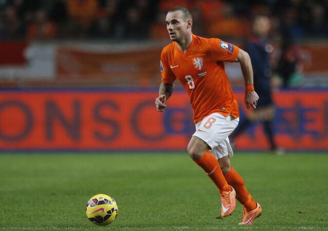 Hollandalı futbolcu Wesley Sneijder