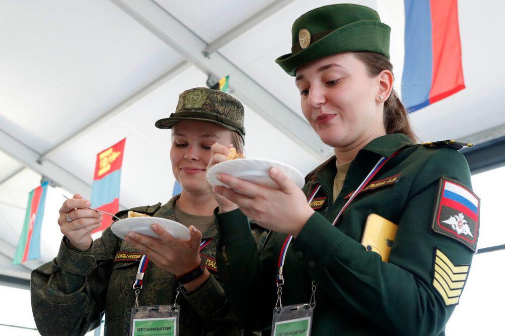Moskova bölgesindeki Uluslararası Ordu Oyunları Army-2019'dan bir kare.