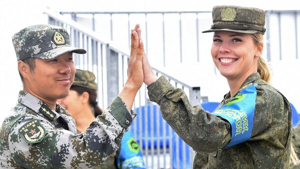 Army-2019 Oyunlarının kadın katılımcıları - Sputnik Türkiye