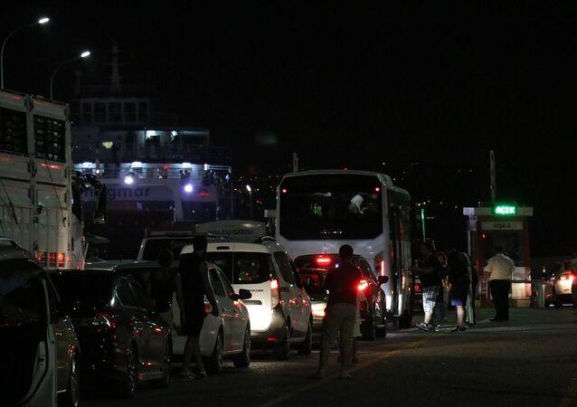 Kurban Bayramı tatili sonrasında dönüş yolundaki vatandaşlar