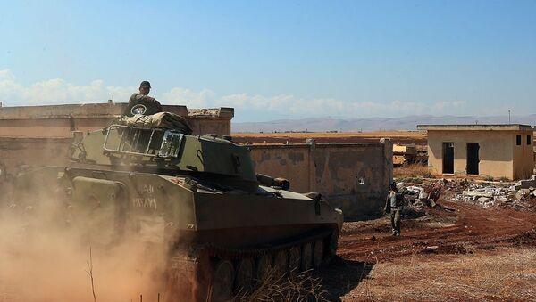 Suriye ordusu - Han Şeyhun - İdlib - Sputnik Türkiye