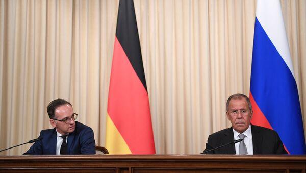 Rusya Dışişleri Bakanı Sergey Lavrov ile Almanya Dışişleri Bakanı Heiko Maas - Sputnik Türkiye