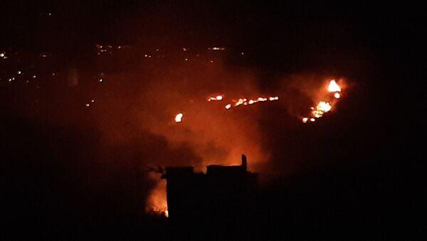 Hatay'ın Samandağ ilçesinde orman yangını meydana geldi. - Sputnik Türkiye