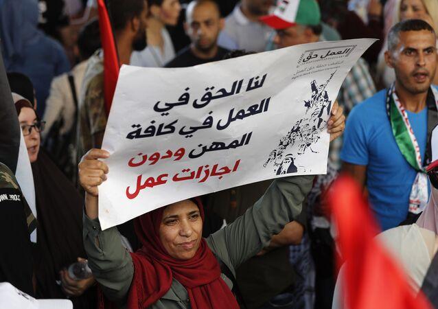 Lübnan'daki Filistinli mülteciler 'yasa dışı iş gücü ile mücadele planı'na karşı genel greve gitti