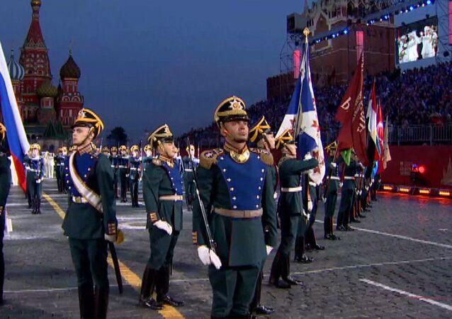 Moskova'da Spasskaya Kulesi Festivali'nin genel provası yapıldı