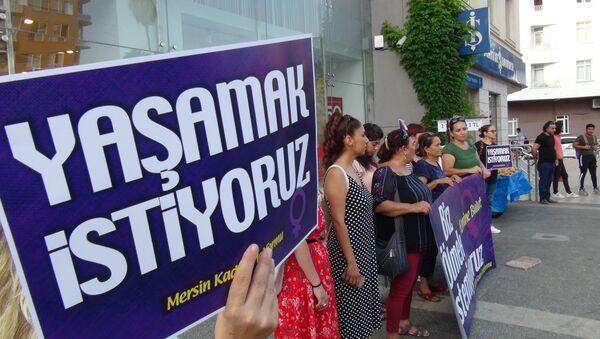 Emine Bulut için protesto - Sputnik Türkiye