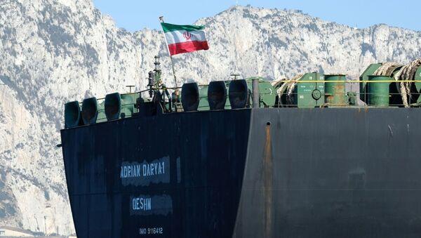 Adı 'Grace 1'den 'Adrian Darya 1'e çevrilen İran'a ait petrol tankeri - Sputnik Türkiye