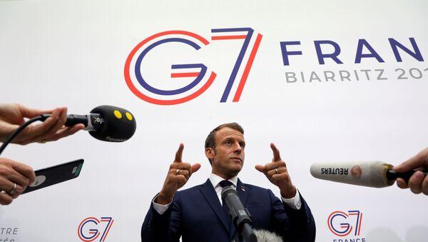 Emmanuel Macron- G7 - Sputnik Türkiye