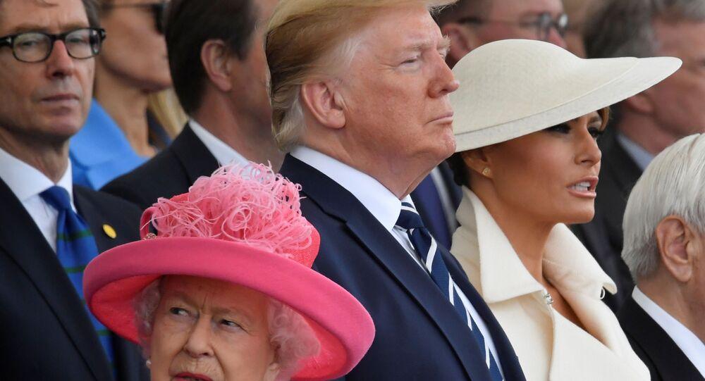 Kraliçe Elizabeth, Donald Trump ve Melania Trump D-Day'in 75. yıldönümü törenlerinde