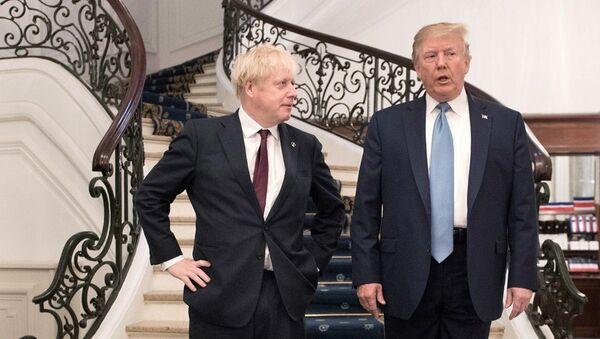 Boris Johnson -  Donald Trump  - Sputnik Türkiye