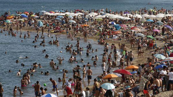 Barselona plaj - Sputnik Türkiye