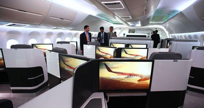 CR929 yolcu uçağının salonu