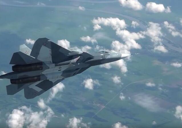 Su-57'den 'havada dans'