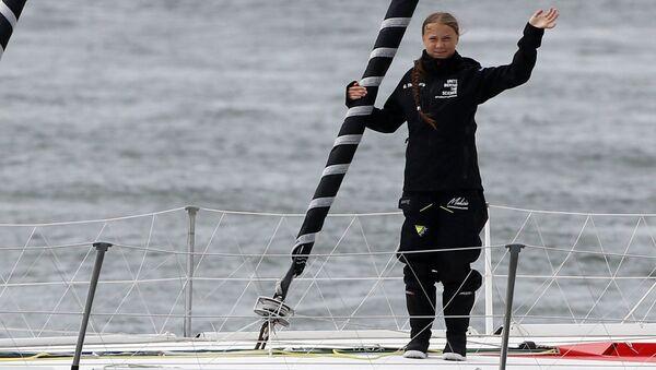 Greta Thunberg Atlantik yolculuğunu tamamladı - Sputnik Türkiye