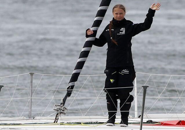 Greta Thunberg Atlantik yolculuğunu tamamladı