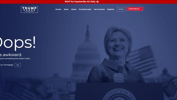 Trump'ın internet sitesi Clinton'u 'trolledi' - Sputnik Türkiye