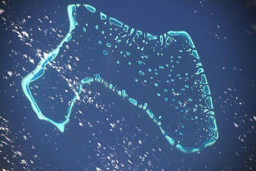 UUİ'dan görüntülenen Maldivler manzarası.