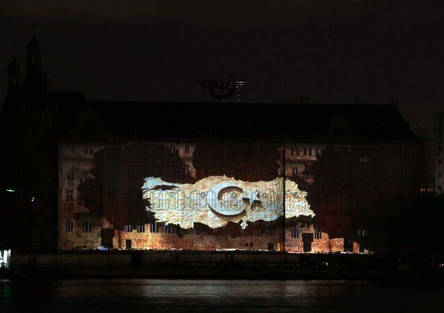 Haydar Paşa Garı'nda 30 Ağustos mapping gösterisi