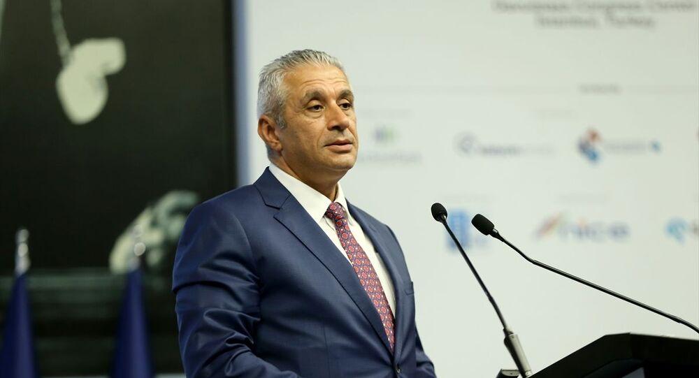 Kuzey Kıbrıs Türk Cumhuriyeti (KKTC) Ekonomi ve Enerji Bakanı Hasan Taçoy.