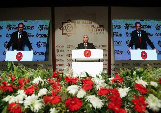 Türkiye Cumhurbaşkanı Recep Tayyip Erdoğan, Malatya'da Önder İmam Hatipliler Buluşması'na katıldı.