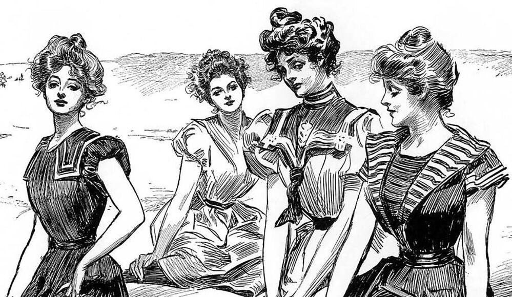 """1900'ler Amerika'sının ideal kadın tiplemesinin adı, """"Gibson kızları"""", yani  illüstratör Charles Dana Gibson'ın yüzyılın ideal kadın güzelliğini betimleme amacıyla yaptığı bir çizimiydi. Gibson, figürü uzun boylu, geniş omuzlu, iri göğüslü ve ince belli genç kadın olarak gözlemledi."""
