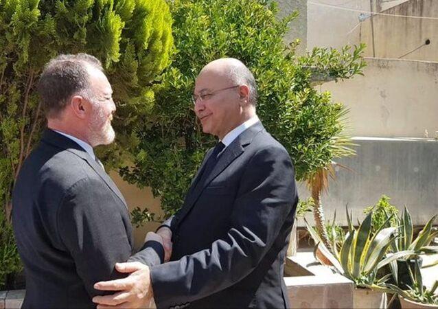 HDP Eş Genel Başkanı Sezai Temelli ve Irak Cumhurbaşkanı Dr. Berhem Salih