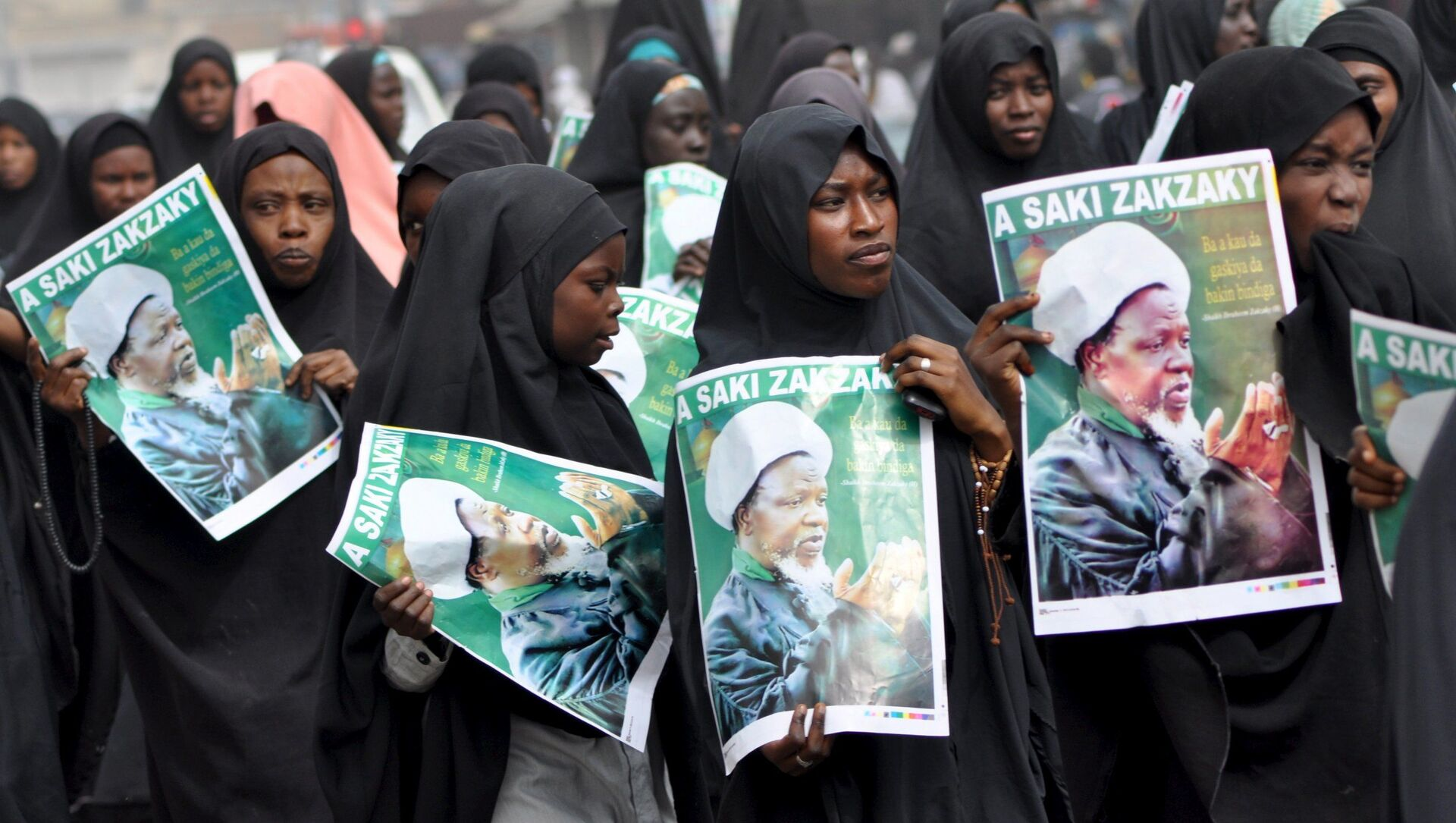 Şii Nijerya İslami Hareketi (IMN) lideri İbrahim Zakzaki için Kano şehrinde düzenlenen protesto - Sputnik Türkiye, 1920, 28.07.2021