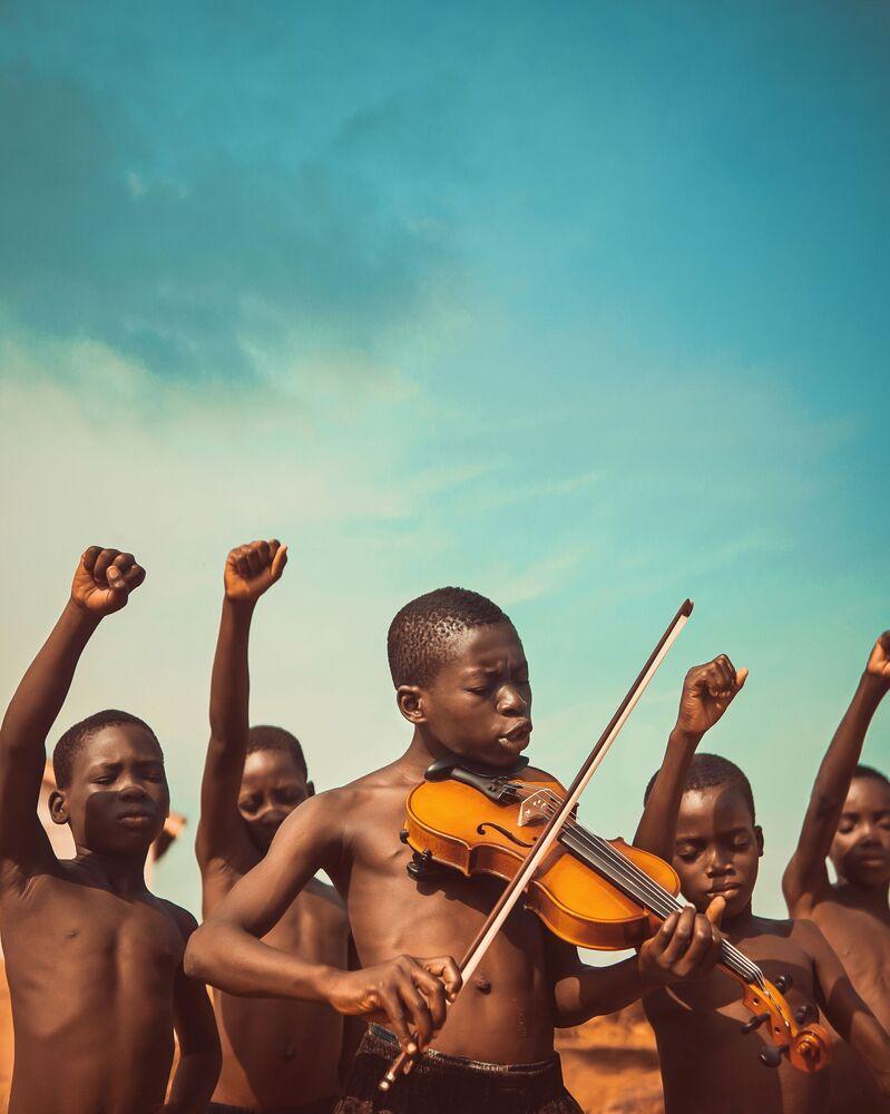 Gana'lı fotoğrafçı Michael Aboya'nın 'Özgürlük Şarkıları' isimli çalışması.