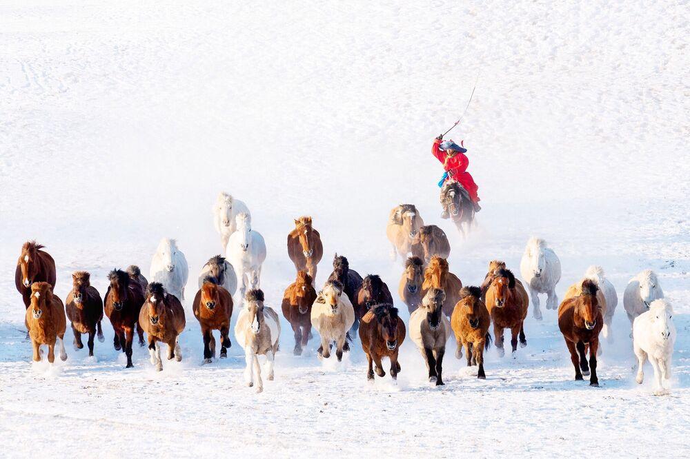 Myanmar'dan fotoğrafçı Zay Yar Lin'in Moğolistan'da çektiği kare.