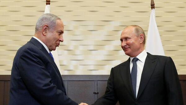 Rusya Devlet Başkanı Vladimir Putin, İsrail Başbakanı Benyamin Netanyahu ile Soçi'de görüştü - Sputnik Türkiye