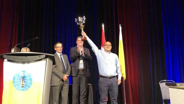 Kanada'nın Montreal kentinde 8-12 Eylül tarihleri arasında yapılan 46. Dünya Arıcılık Kongresi'nde Eğriçayır Balı, Dünyanın En İyi Balı ödülüne layık görüldü. Kongrenin son günü düzenlenen törenle büyük ödülü Eğriçayır Balı'nın sahibi Celal Çay aldı. - Sputnik Türkiye