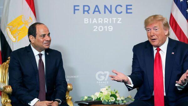 Mısır Cumhurbaşkanı Sisi, ABD Başkanı Donald Trump, Fransa G7 zirvesi - Sputnik Türkiye