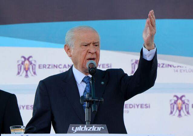 MHP Genel Başkanı Devlet Bahçeli, 31 Mart seçimlerinin ardından teşekkür mitinglerinin sonuncusunu Erzincan'da yaptı