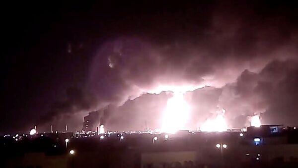Suudi Arabistan'da petrol tesislerine drone ile saldırı - Sputnik Türkiye