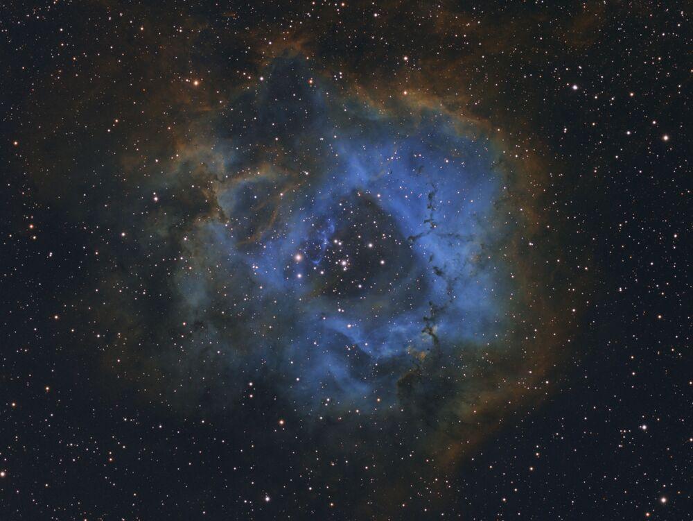 Yarışmanın 'Yılın Genç Astronomi Fotoğrafçısı' kategorisinde kazanan 11 yaşındaki Hollandalı fotoğrafçı Davy van der Hoeven'in Rozet Bulutsusu görüntüsü.