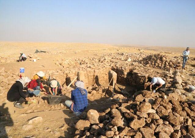 Şanlıurfa'da, UNESCO Dünya Mirası Listesi'nde yer alan Göbeklitepe'dekilere benzer yapılara, kazı yapılan Harbetsuvan Tepe'de de rastlandı
