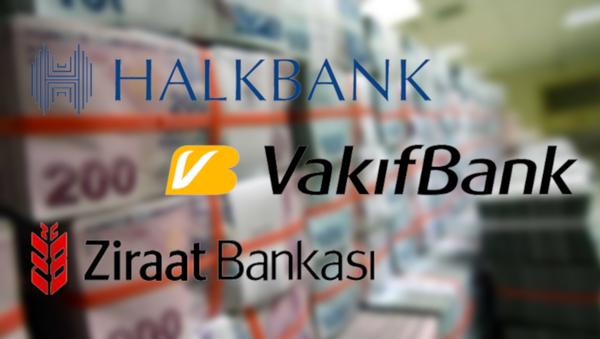 Halkbank, Vakıfbank ve Ziraat Bankası - Sputnik Türkiye