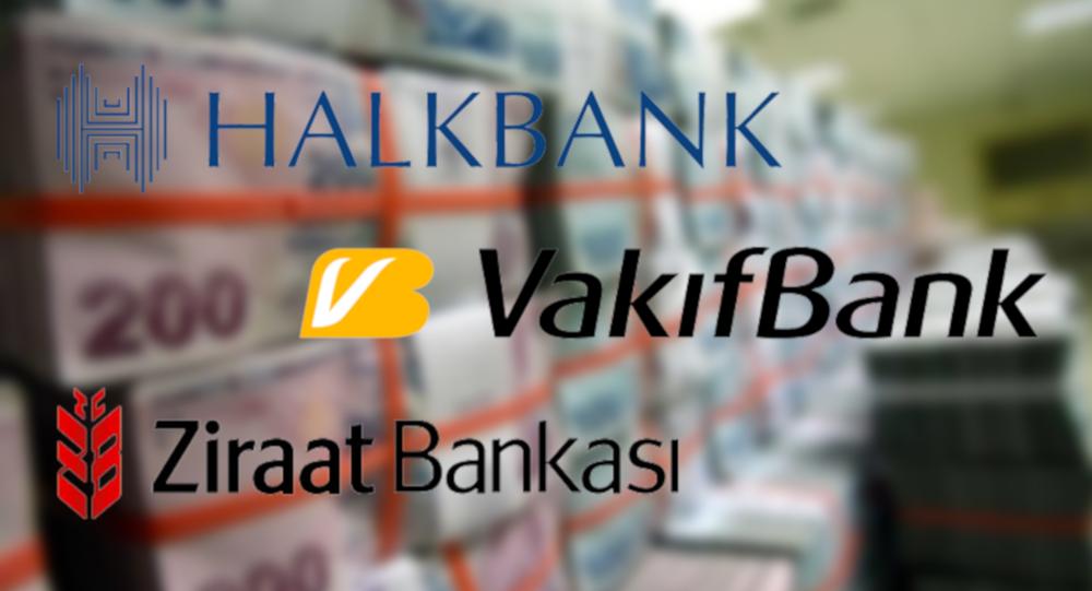 Halkbank, Vakıfbank ve Ziraat Bankası