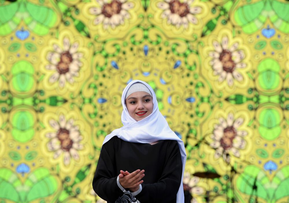 Kazan'da düzenlenen  Kültürel Mozaik Festivali'nin katılımcılarından biri.