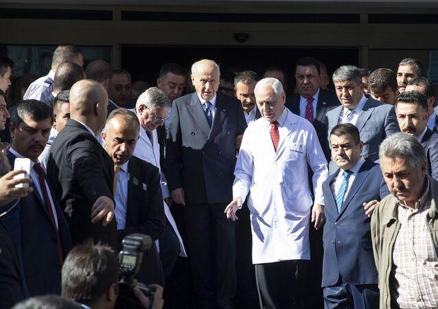 MHP Genel Başkanı Devlet Bahçeli, tedavi gördüğü Başkent Üniversitesi Ankara Hastanesi'nden taburcu edildi.
