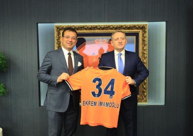 İmamoğlu'ndan İstanbul Başakşehir Futbol Kulübüne ziyaret
